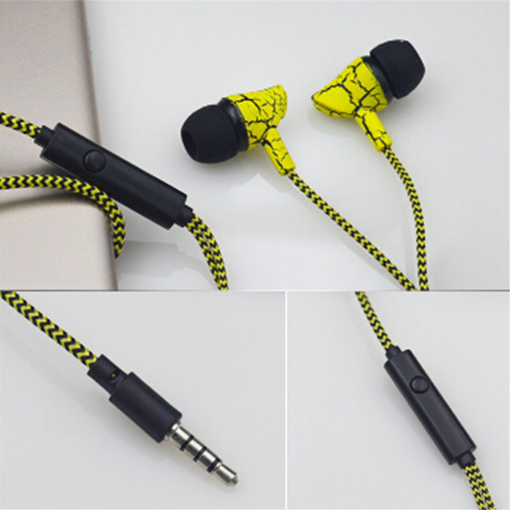 3.5mm Wired Headset Super Bass Sport Earphone Crack Earphone Earbud