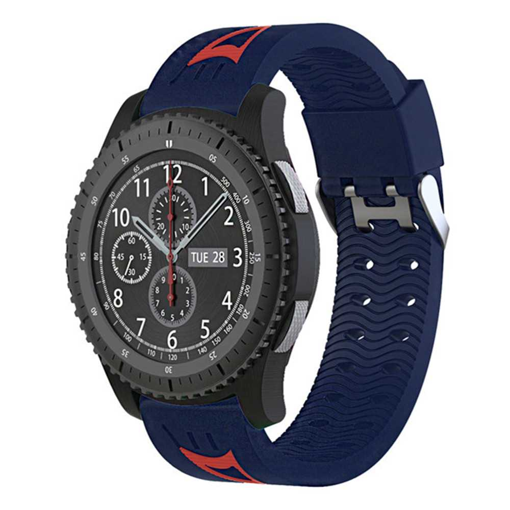 22MM Soft Silicone Replacement Sport Strap Rubber Wristband for Samsung Gear S3