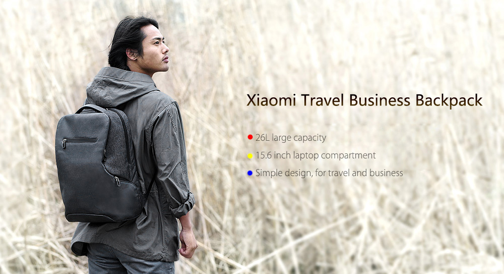 Xiaomi Water-resistant 26L Business Travel Backpack 15.6 inch Laptop Bag