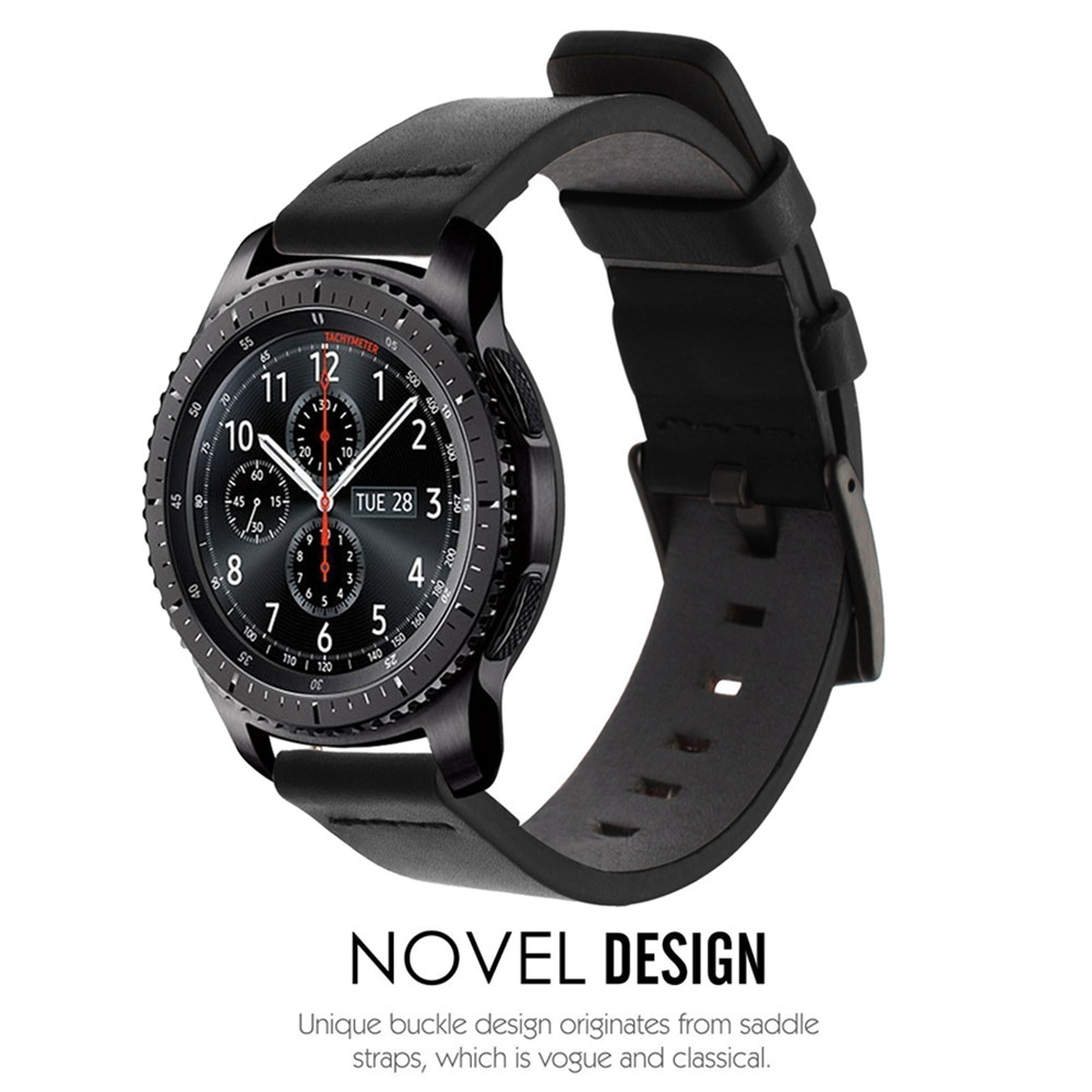 22MM Belt Genuine Luxury Leather Band Strap For Samsung Gear S3 Frontier Classic