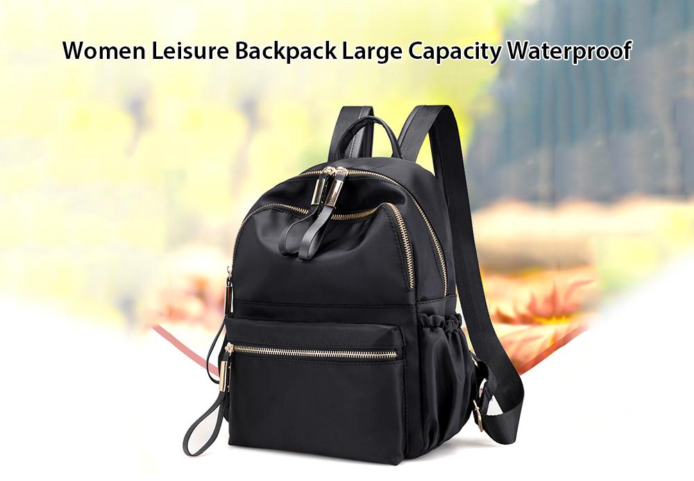 Women Leisure Backpack Large Capacity Waterproof