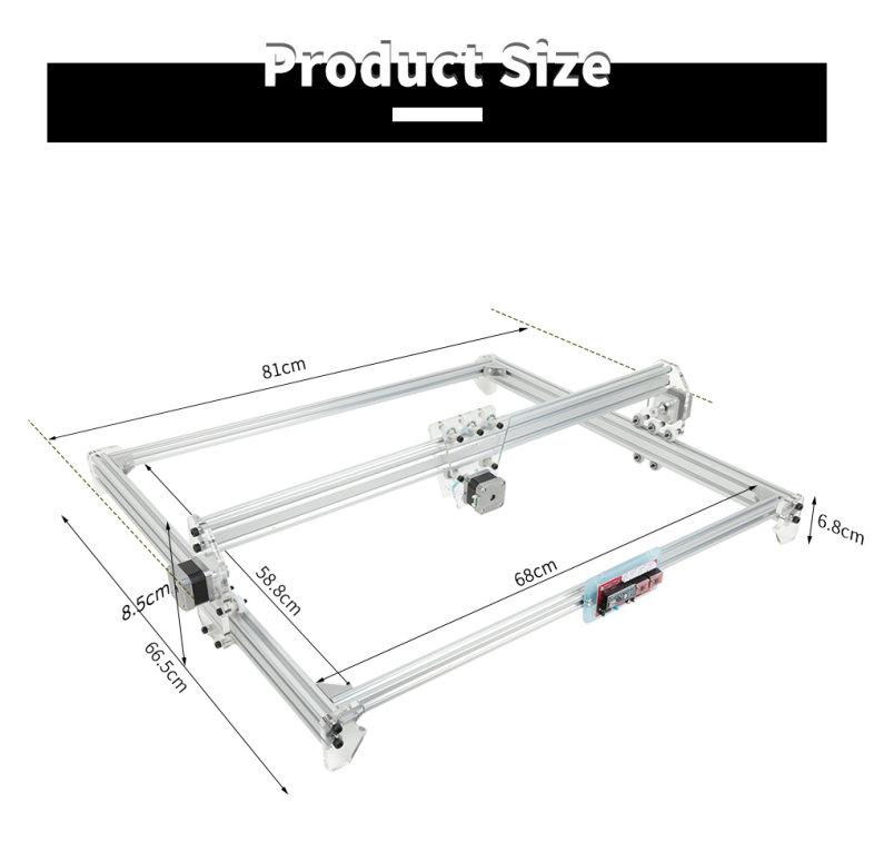 50 X 65cm Laser Engraving Machine Desktop Cutting Equipment (SILVER) EU PLUG