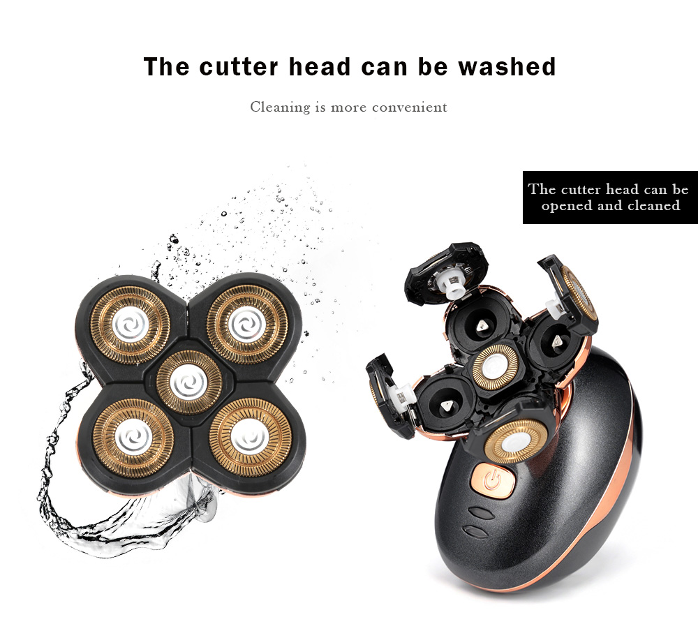 Jinding RQ5588 Five-blade Razor Electric Shaver for Men Hair Trimmer