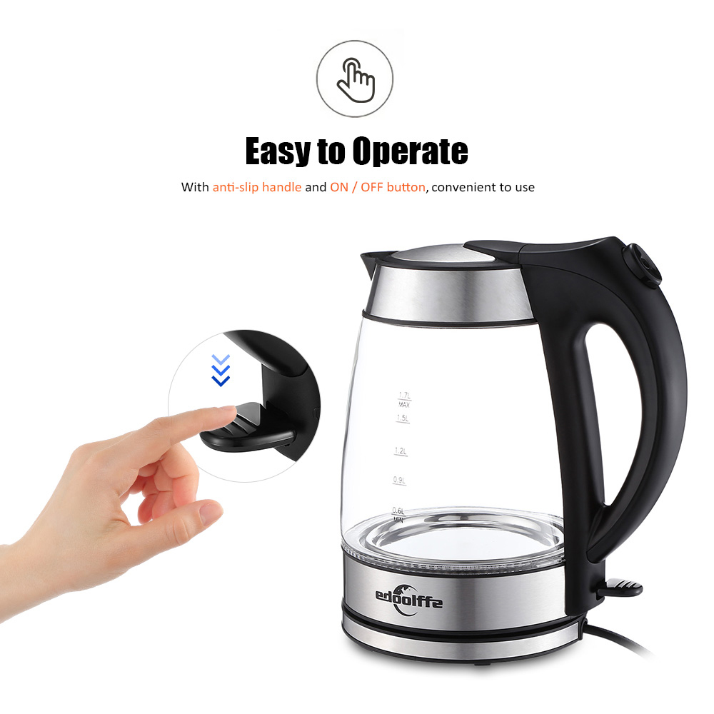 Edoolffe MD - 315 Large Capacity Handheld Electric Glass Kettle for Home