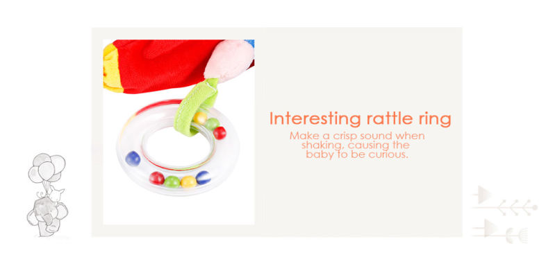 Baby Crib Animal Rattle Plush Toy Stroller Pendant Hanging Bed Bell