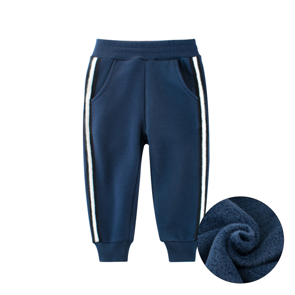 Middle and Small Children'S Autumn and Winter Pants Thickened Hand Fleece