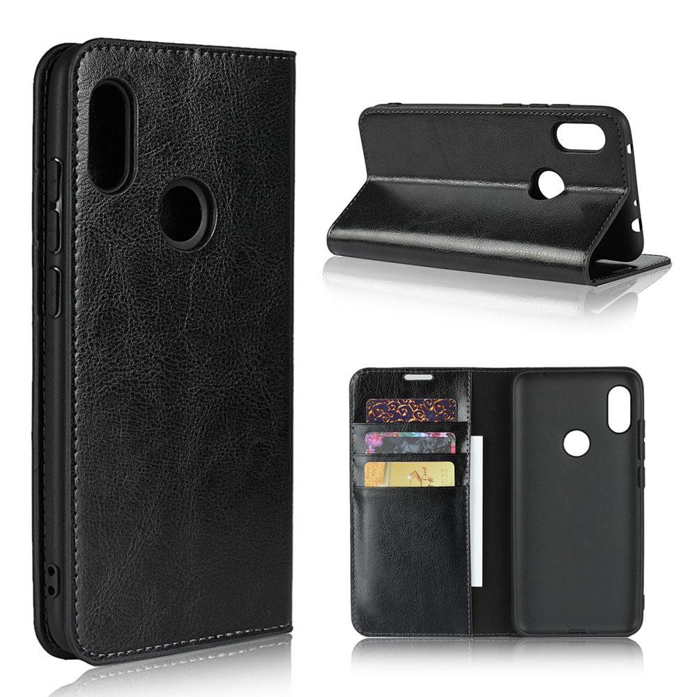 Genuine Leather Wallet Case Cover for Xiaomi Redmi Note 6 Pro