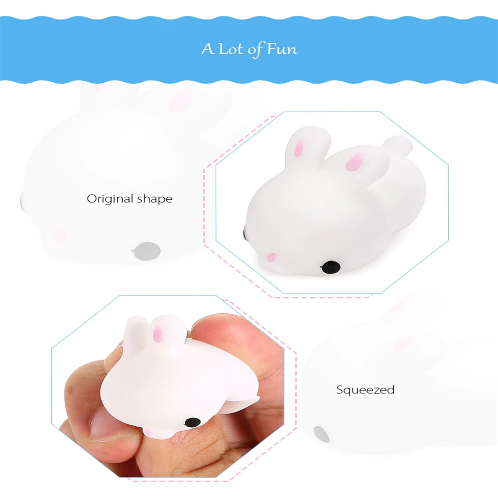 Mini Cartoon Rabbit TPR Jumbo Squishy Toy