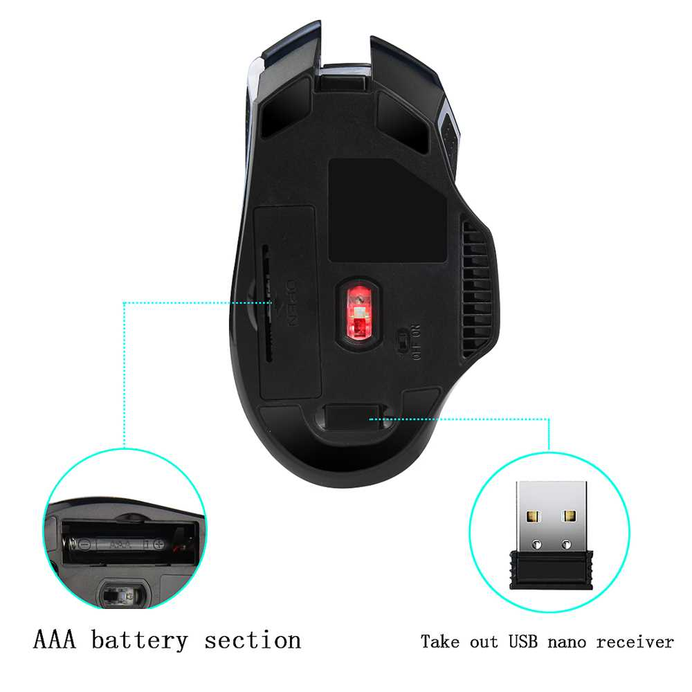YWYT G821 Blasting 2.4 G Wireless Game Mouse Portable Mouse Office Home First Ch