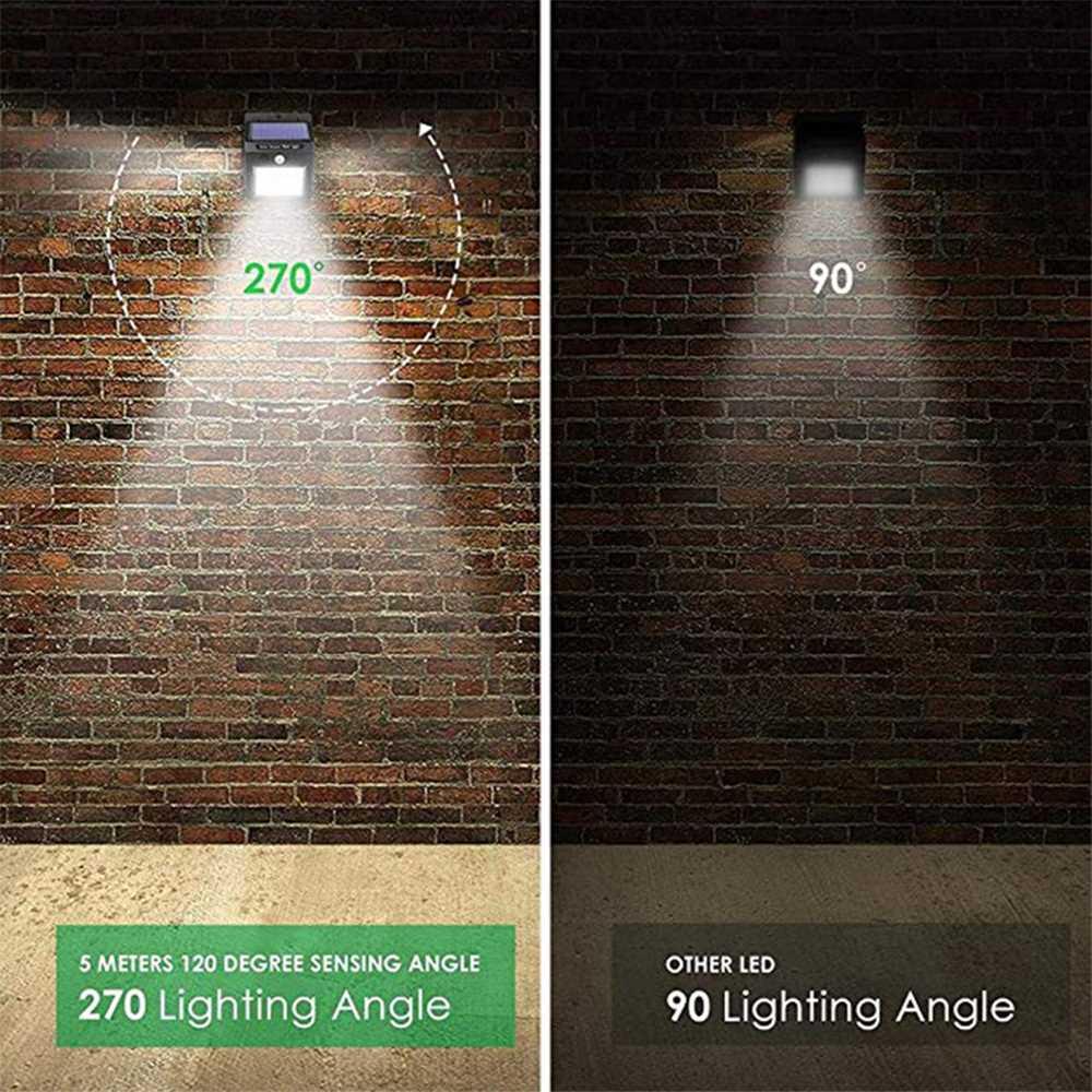 BRELONG Solar LED Wall Lamp IP65 Waterproof Three-Sided Lighting Motion Sensor