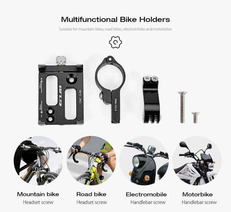 GUB G88 Aluminum Alloy Bicycle Handlebar Mount Holder Bike Phone Stand Cycling Accessory