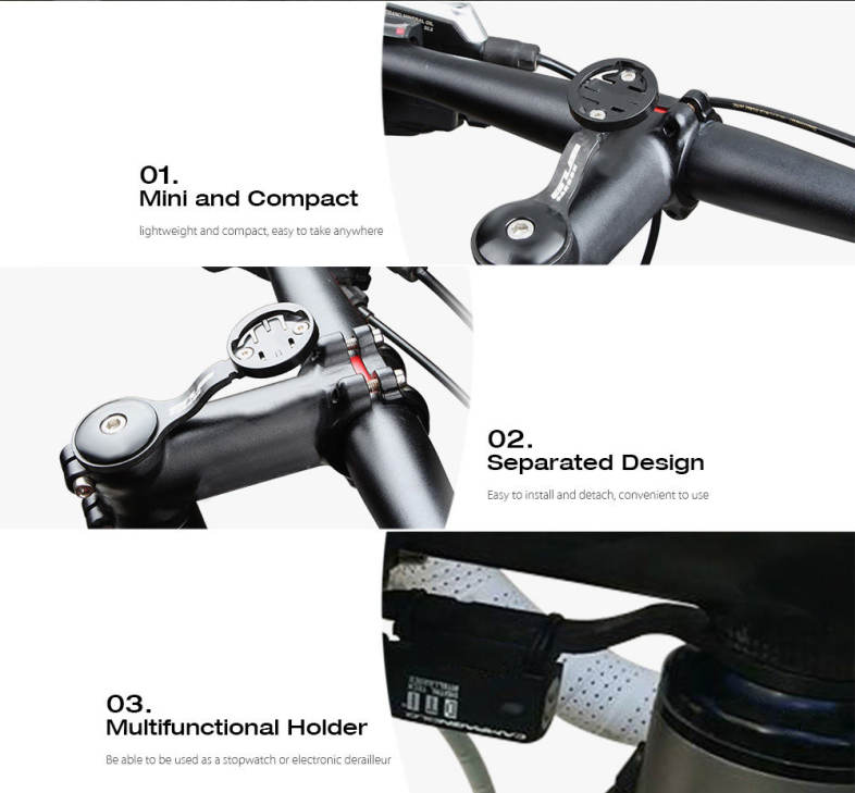 GUB Carbon Fiber Bicycle Handlebar Speedometer Stent Extender Bracket Bike Stopwatch Seat Holder