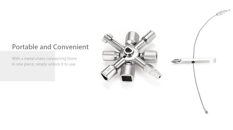 HakkaDeal 10 in 1 Electric Control Cabinet Cross Triangle Key Wrench