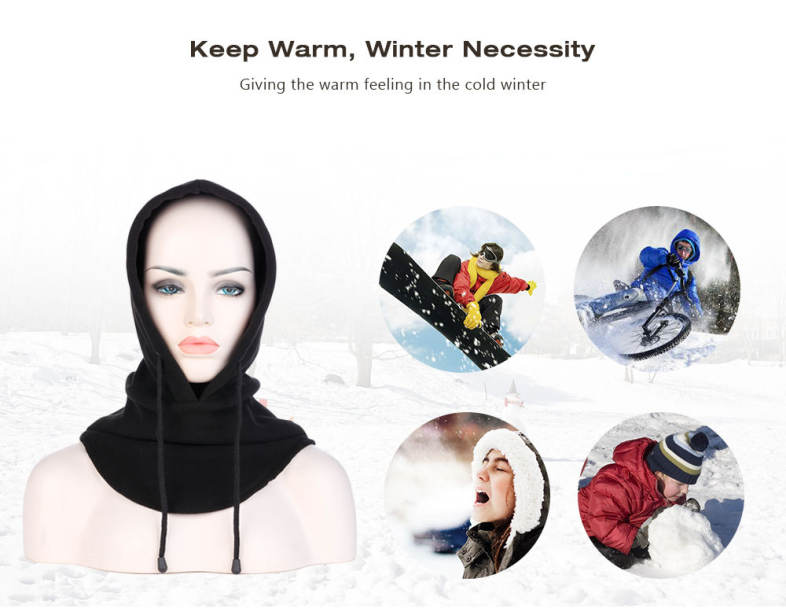 Unisex Windproof Motorcycle Bicycle Face Mask Neck Cap Thermal Fleece Hat