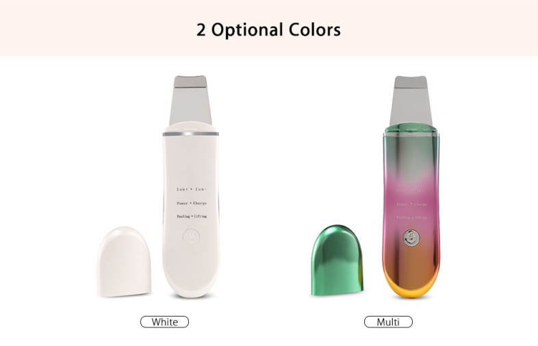 Ultrasonic Ion Skin Cleaner Facial Cleansing Spatula Beauty Instrument
