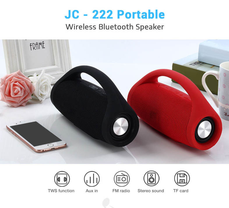d08a3df37f6aa JC - 222 Portable Wireless Bluetooth Stereo Speaker Subwoofer Sound Mini  Player