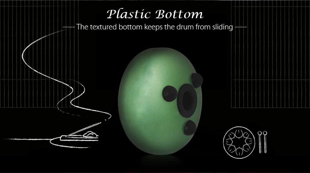 MEIBEITE Creative 5.5 inch Steel Tongue Drum Set Music Instrument