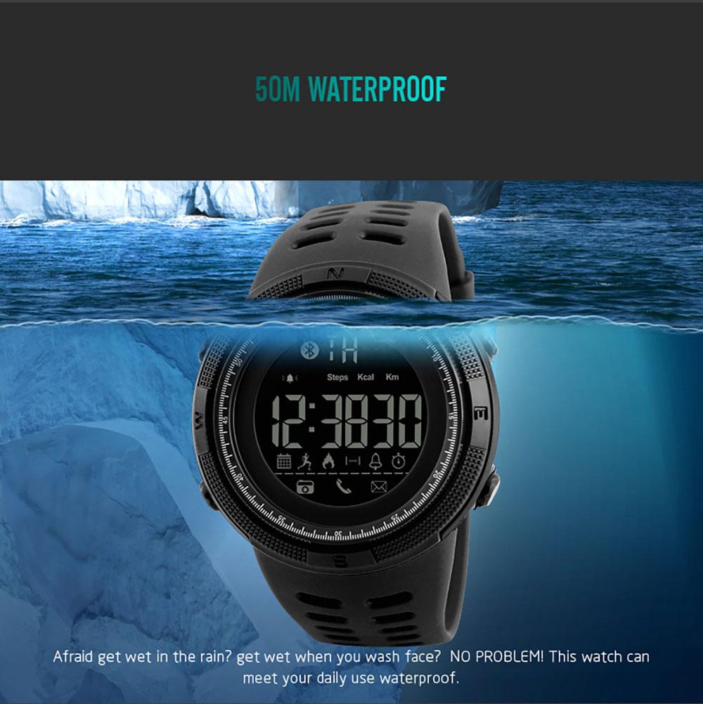 SKMEI Men Smart Multifunctional Sports Digital Watch Calories Pedometer Reminder