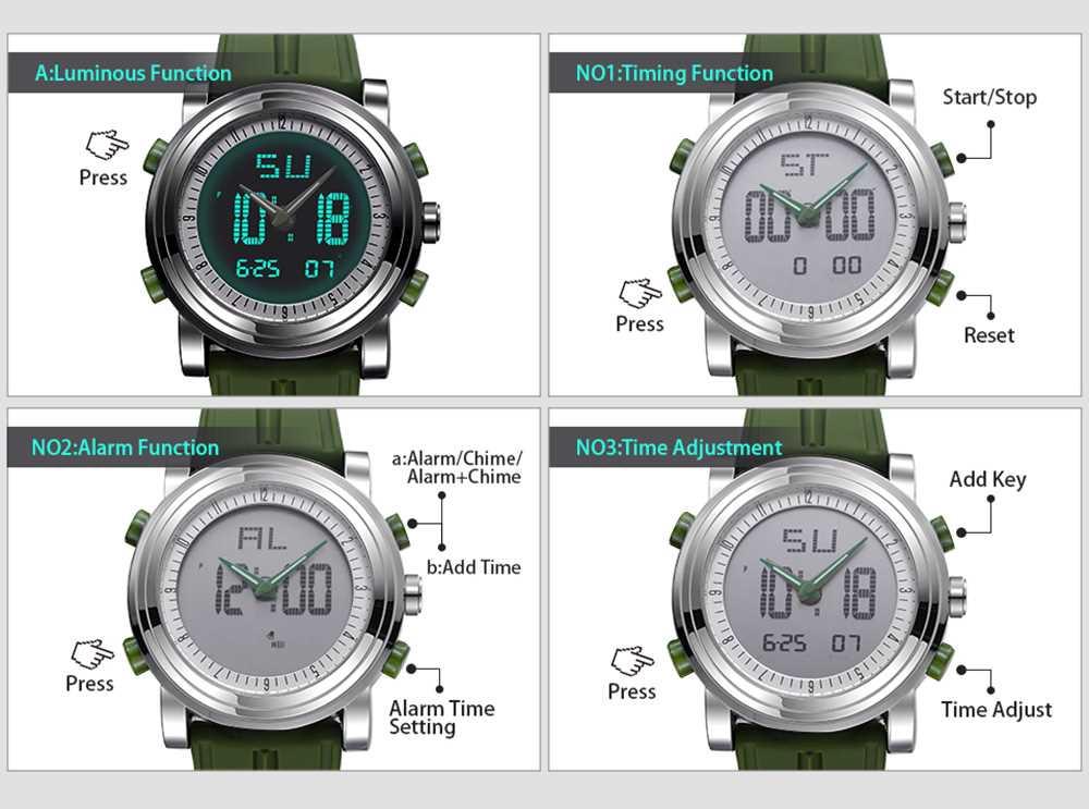 SINOBI Sports Digital Men Wrist Watches Date Waterproof Chronograph Watch