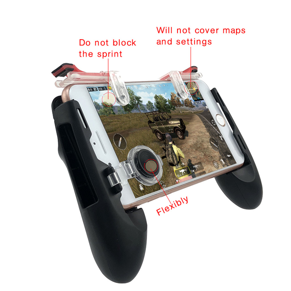 Gamepad For Mobile Phone Game Controller Shooter Trigger Fire Button Joystick