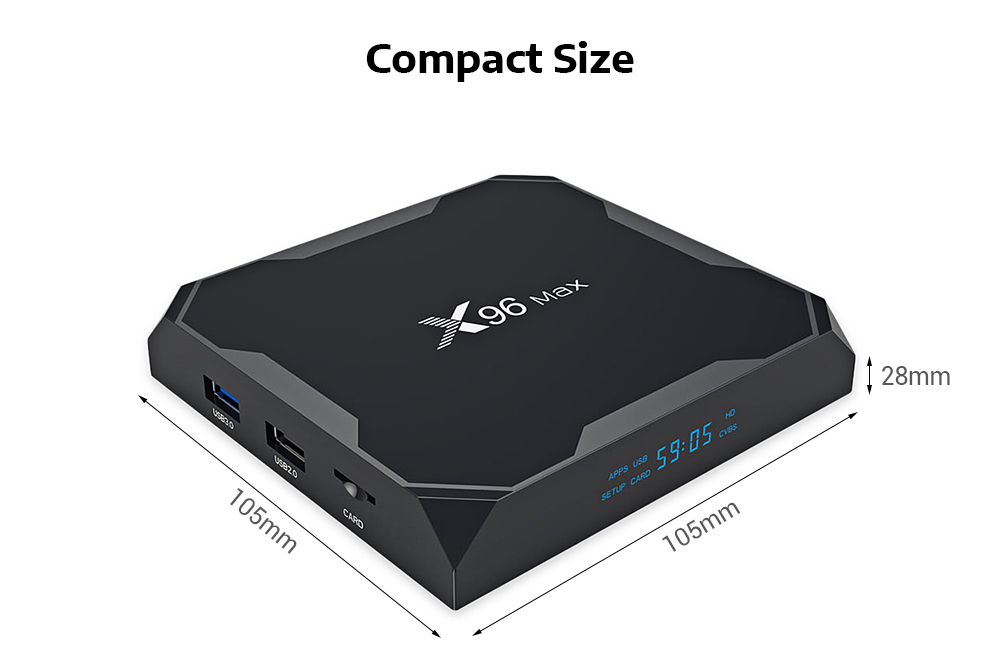X96 MAX S905XII 4K HD TV Box 2GB / 16GB Smart Media Player for Android 8.1