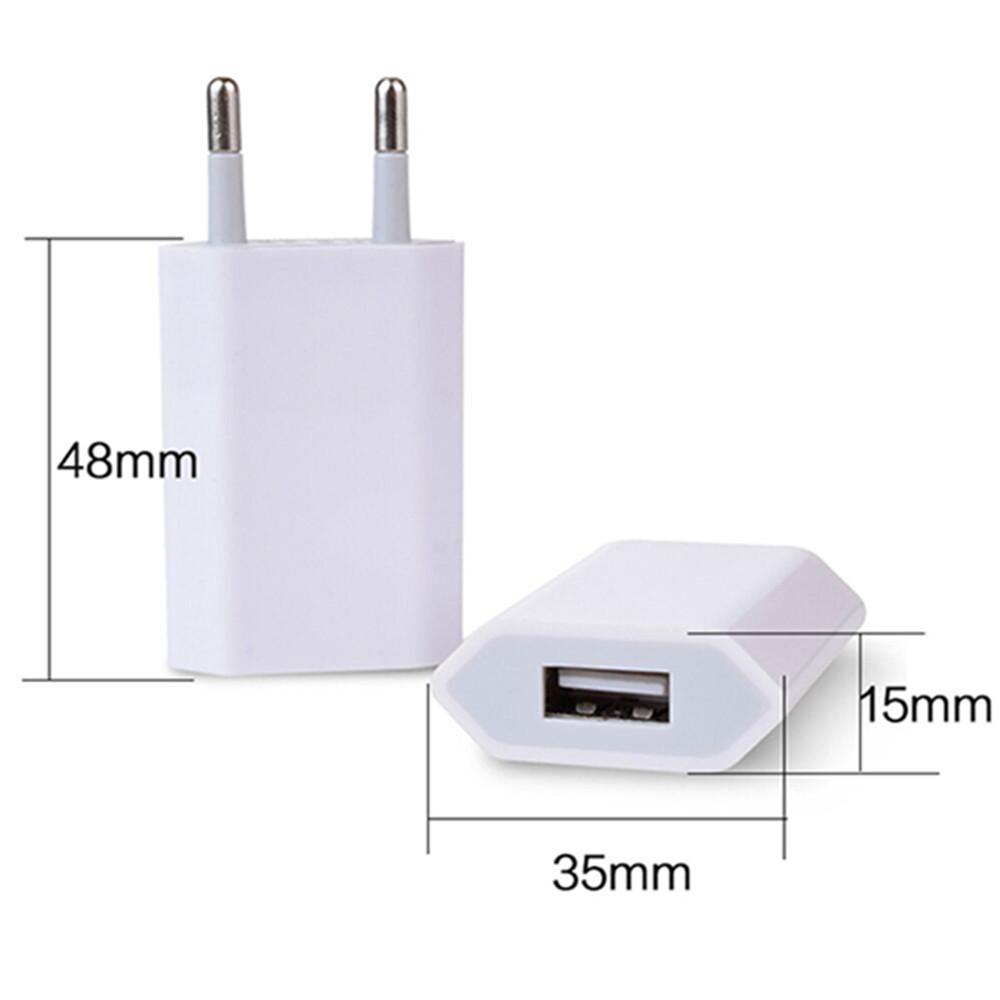 Portable EU Plug Travel Power Adapter Wall Charger