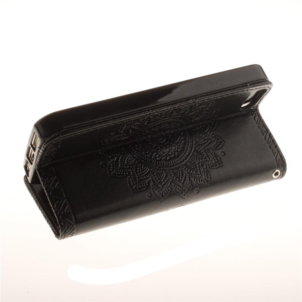 Luxury Retro Mandala Flip Leather Case For iPhone 5/5S/SE