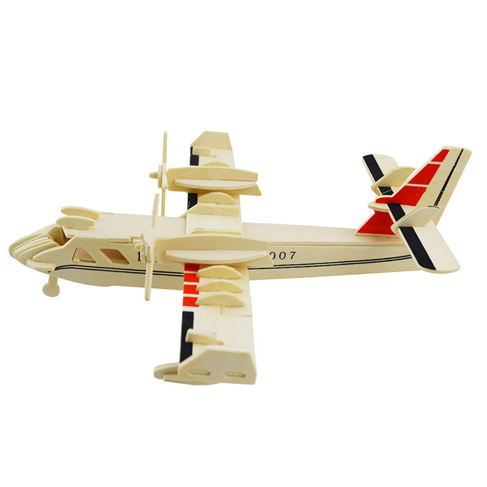3D Wood Educational Puzzles Children Adults Bombardment Aircraft