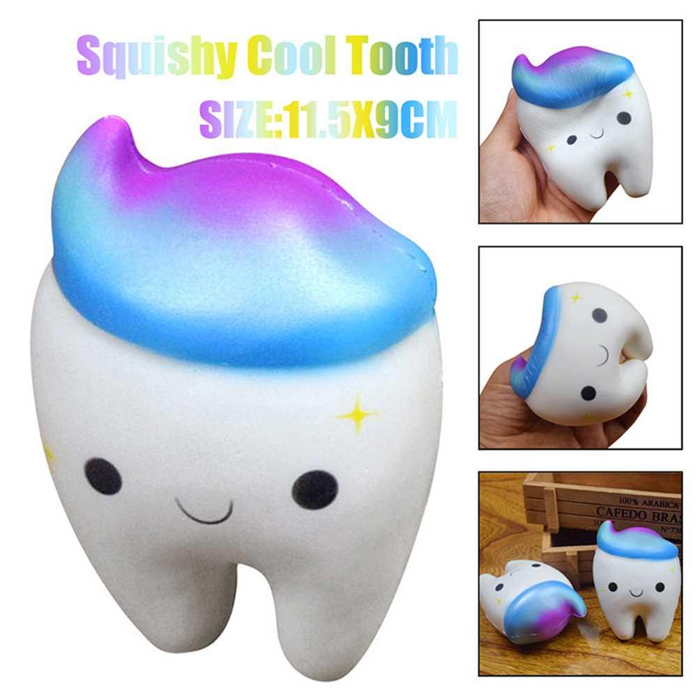 Jumbo Squishy Stretch Kawaii Teeth Bread Slow Rising Kids Toy