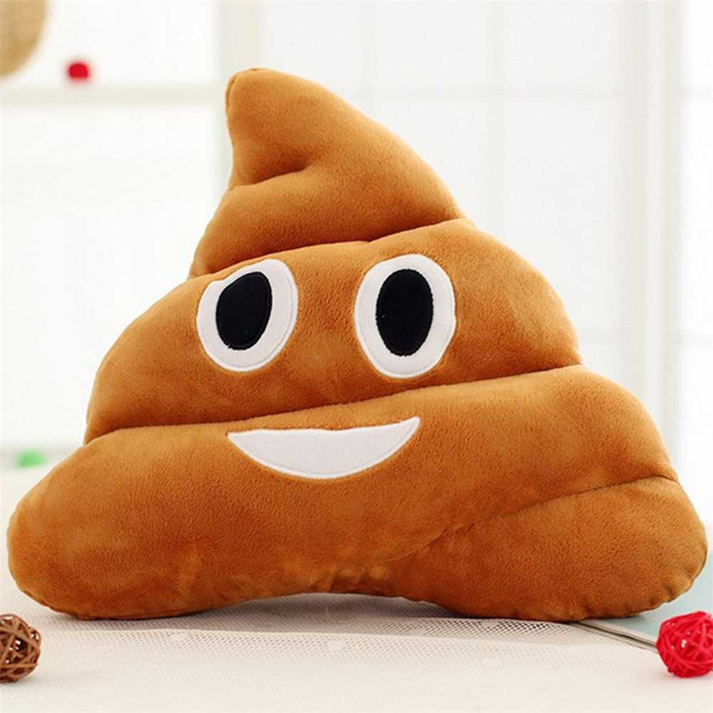 Poop Face Smiley Emoticon Cushion Pillow Stuffed Plush Toy Doll