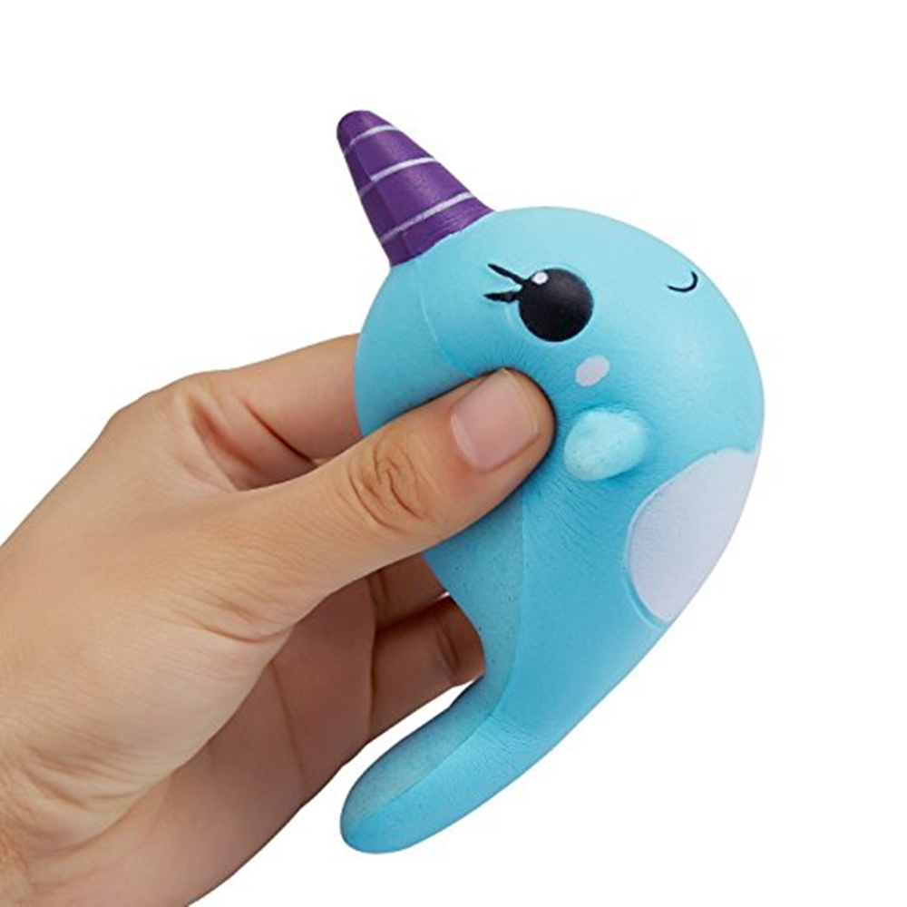 Decompression Toys Soft Cute Whale Cartoon Squishy Slow Rising Squeeze Toy Christmas Gift