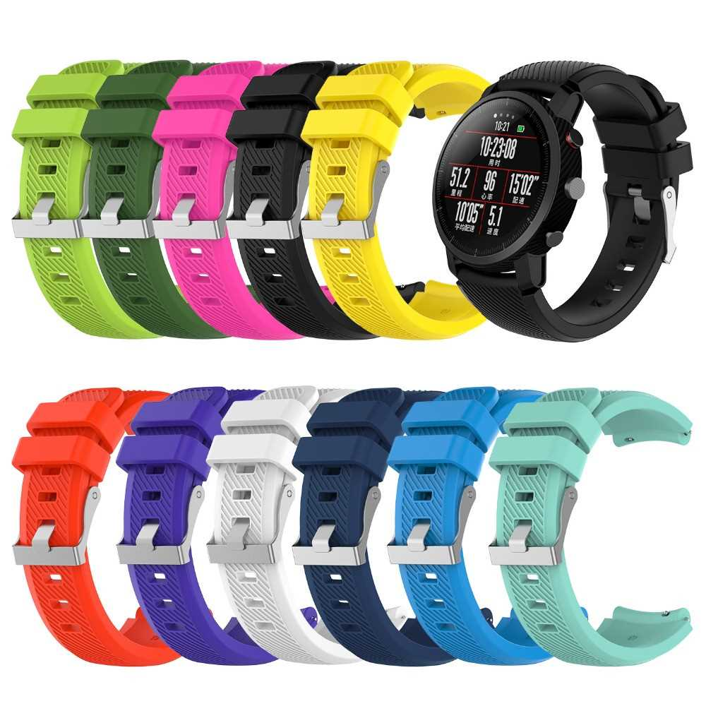 22CM Replacement Silicone Watch Band for Xiaomi Huami AMAZFIT Strap