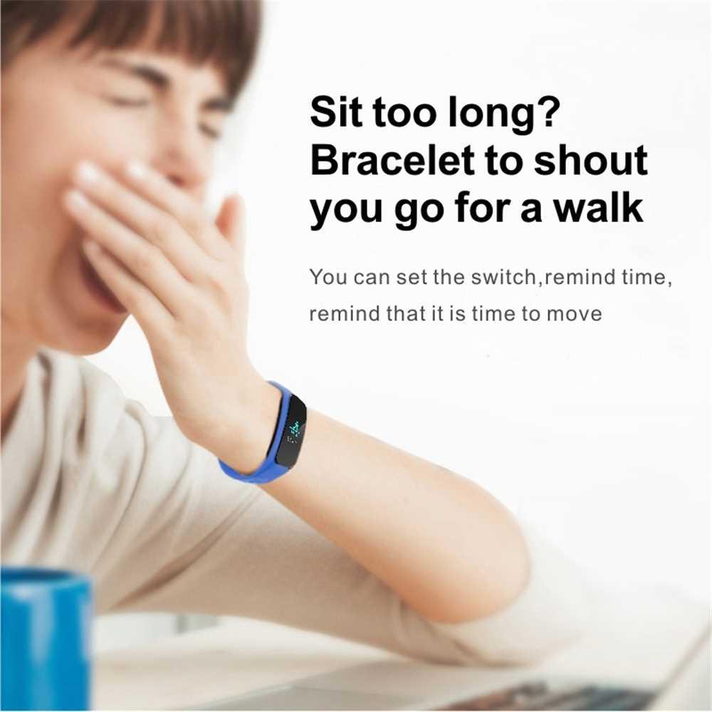 L6 Color Screen Smart Bracelet Heart Rate Blood Pressure Call Reminder