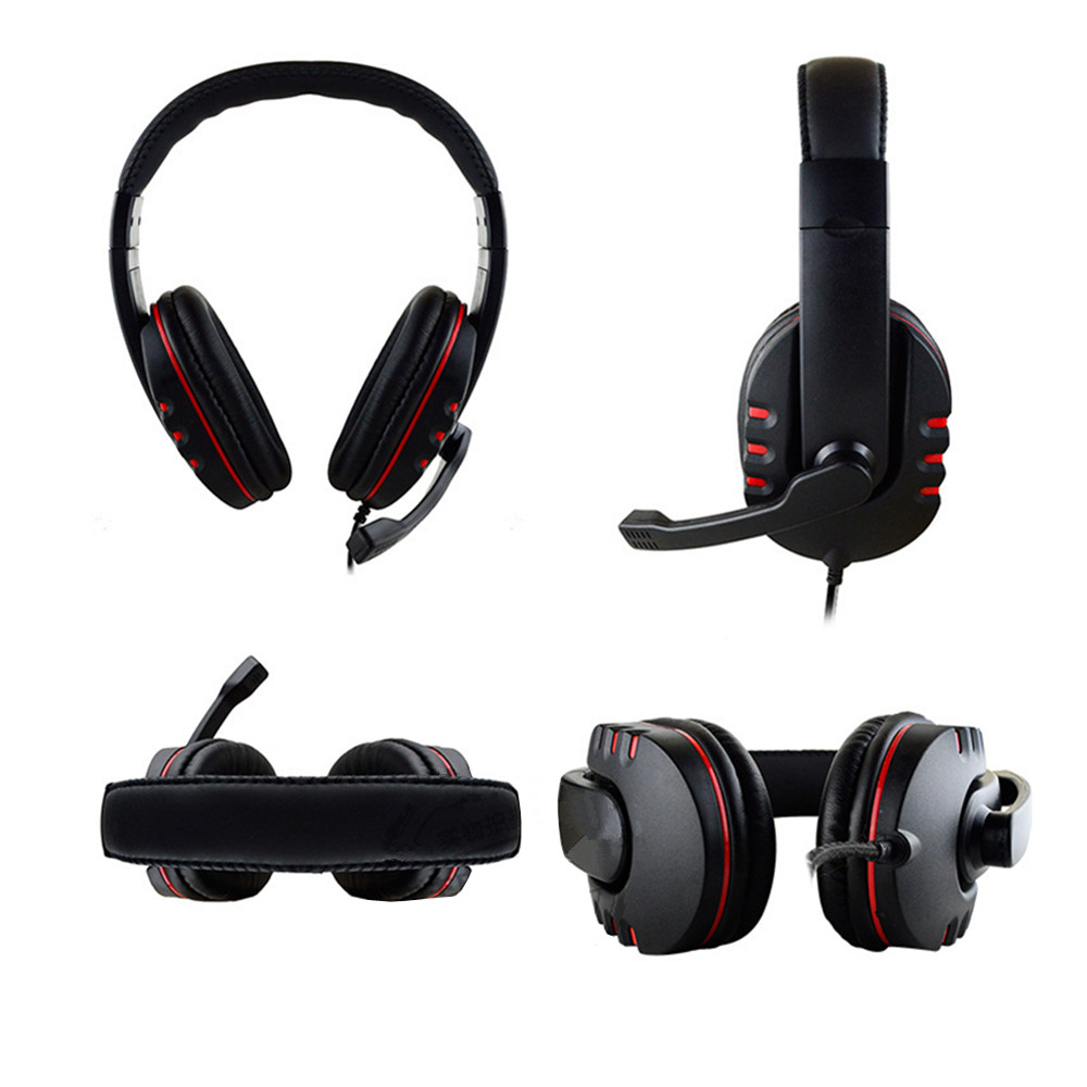 Stereo Headphone Headset Casque Deep Bass Computer Gaming Gamer Earphone