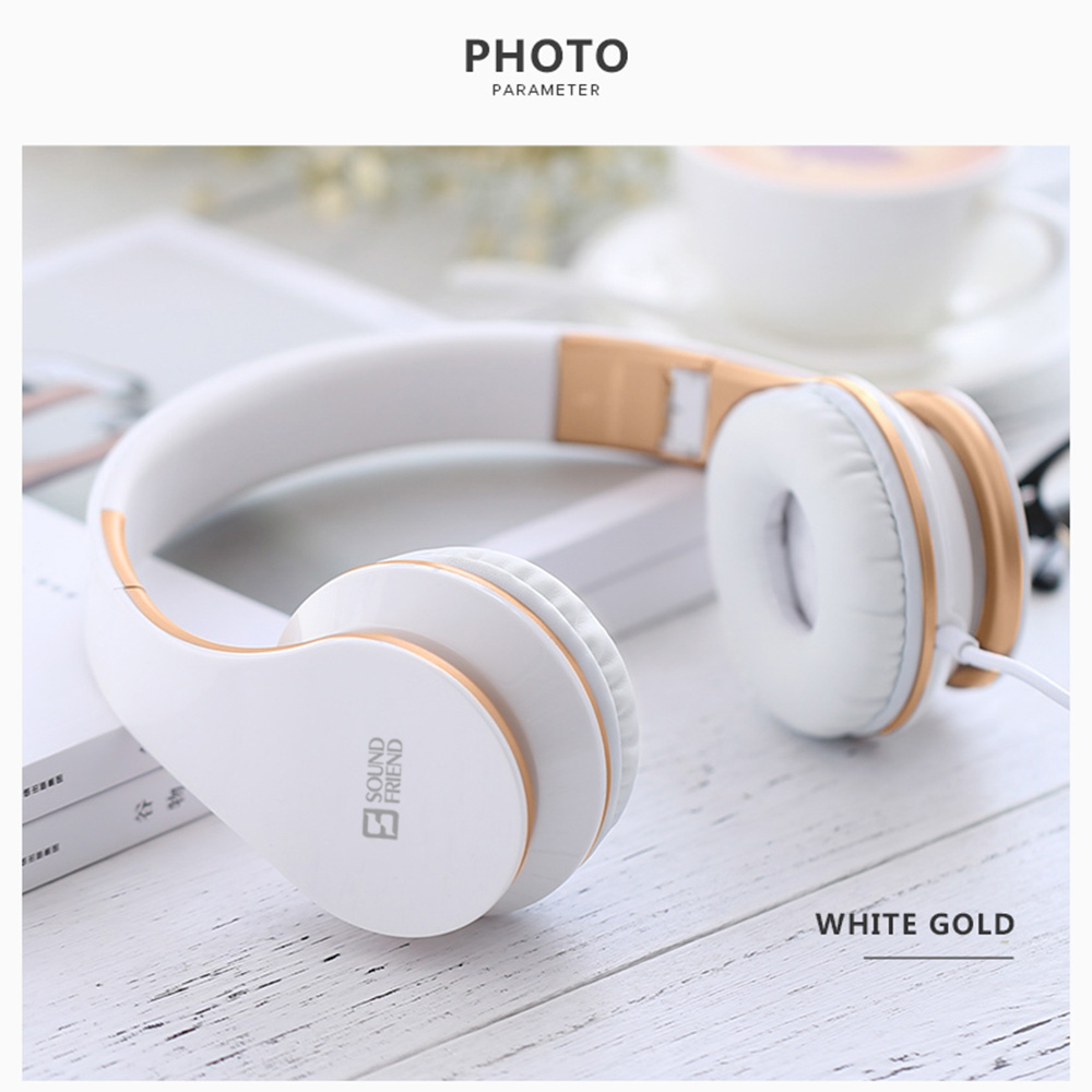 Wired Microphone Over Ear HIFI Music Headphone