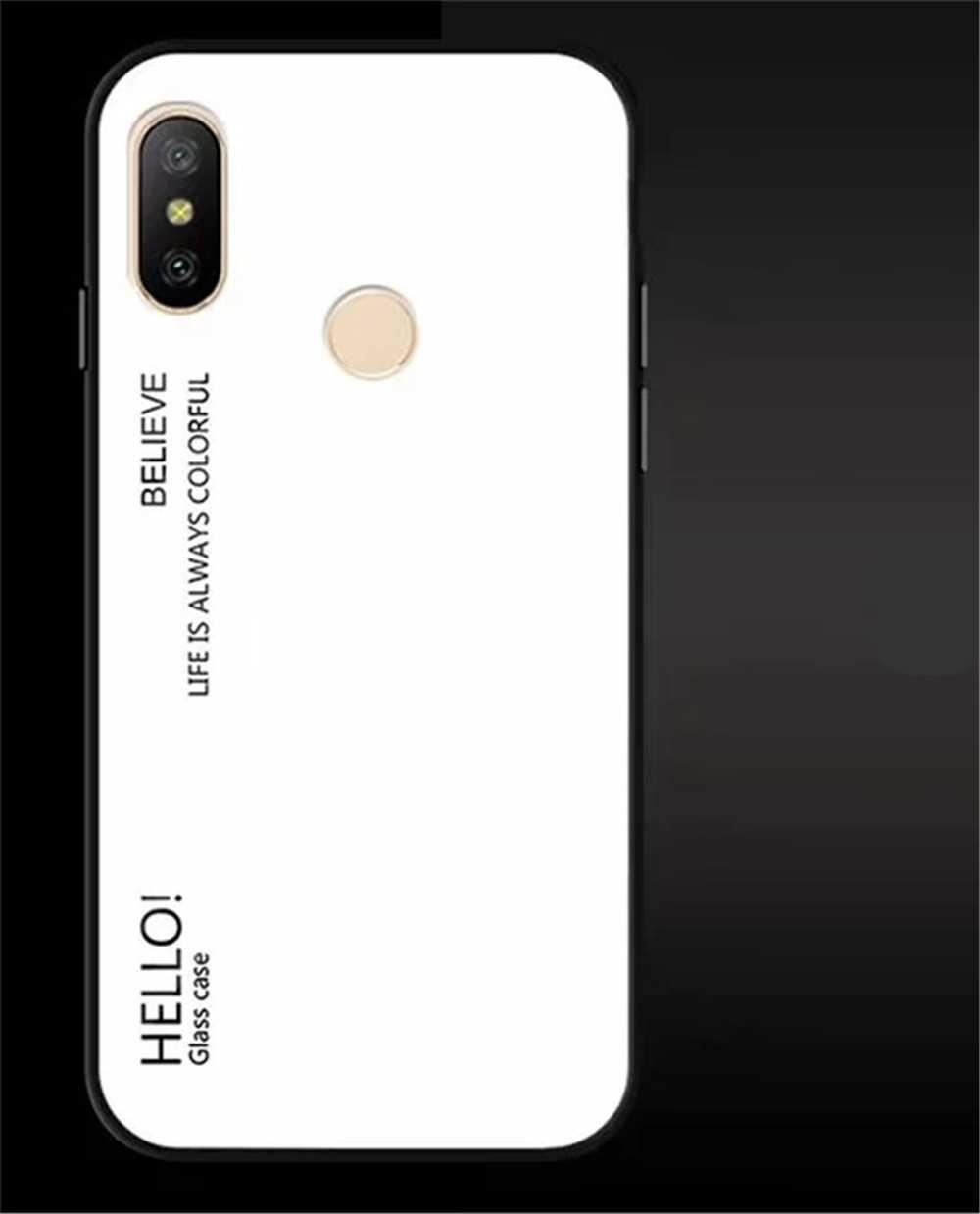 Gradient Tempered Glass Case for Redmi 6 Pro / A2 Lite