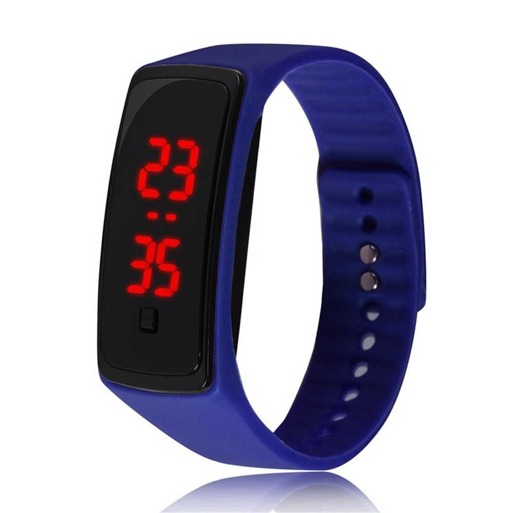 V5 Fashion LED Digital Watch Children Silicone Wristwatch