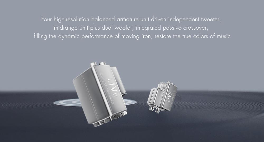 MEIZU LIVE Quad High-Definition Micro Drivers Wired Dynamic Earphone