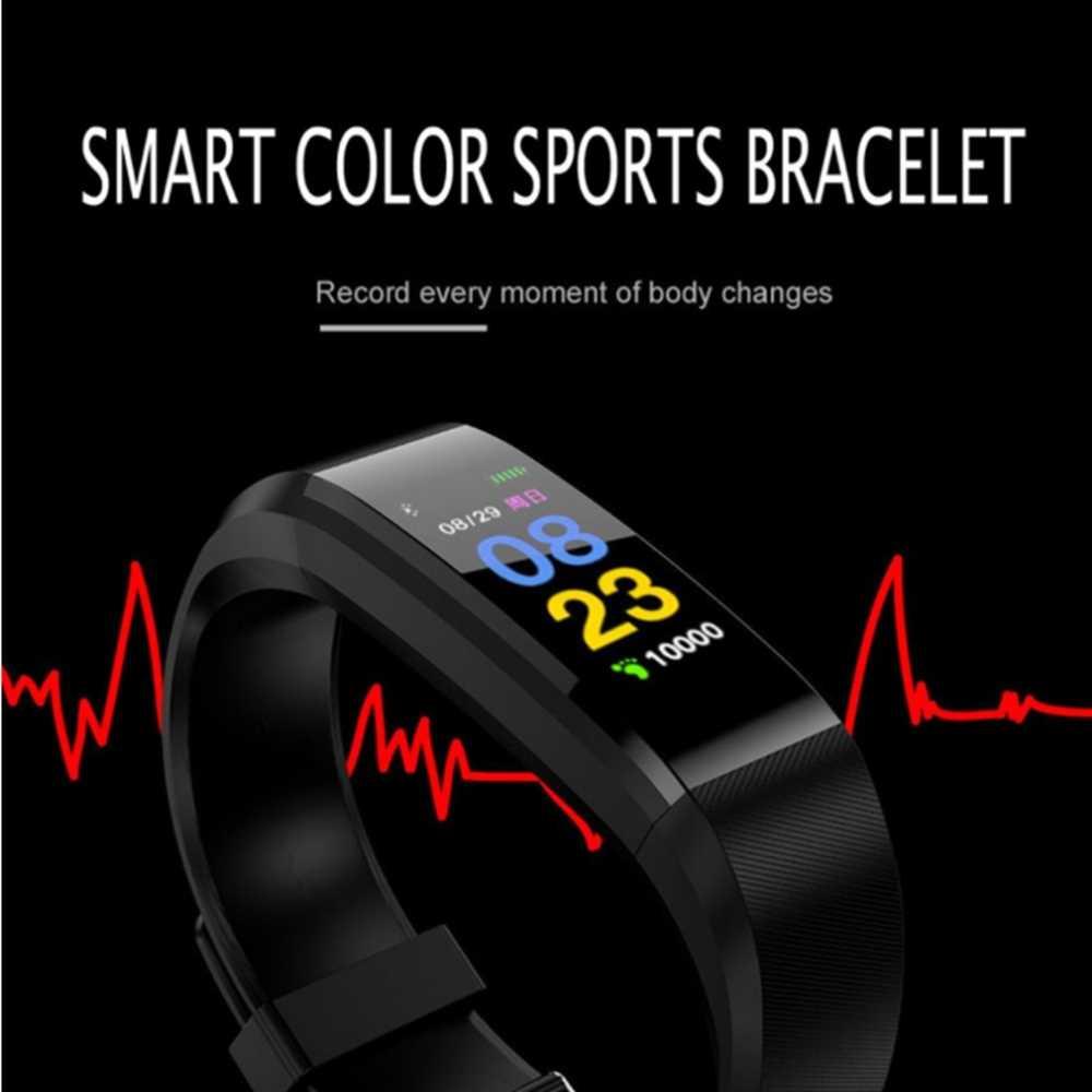 ID115Plus Smart Wrist band Bluetooth Heart Rate Monitor