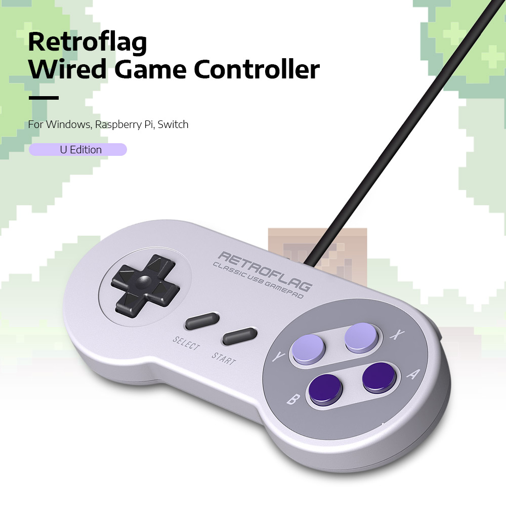 Retroflag U Edition Wired Game Controller for Switch / Raspberry Pi / Windows