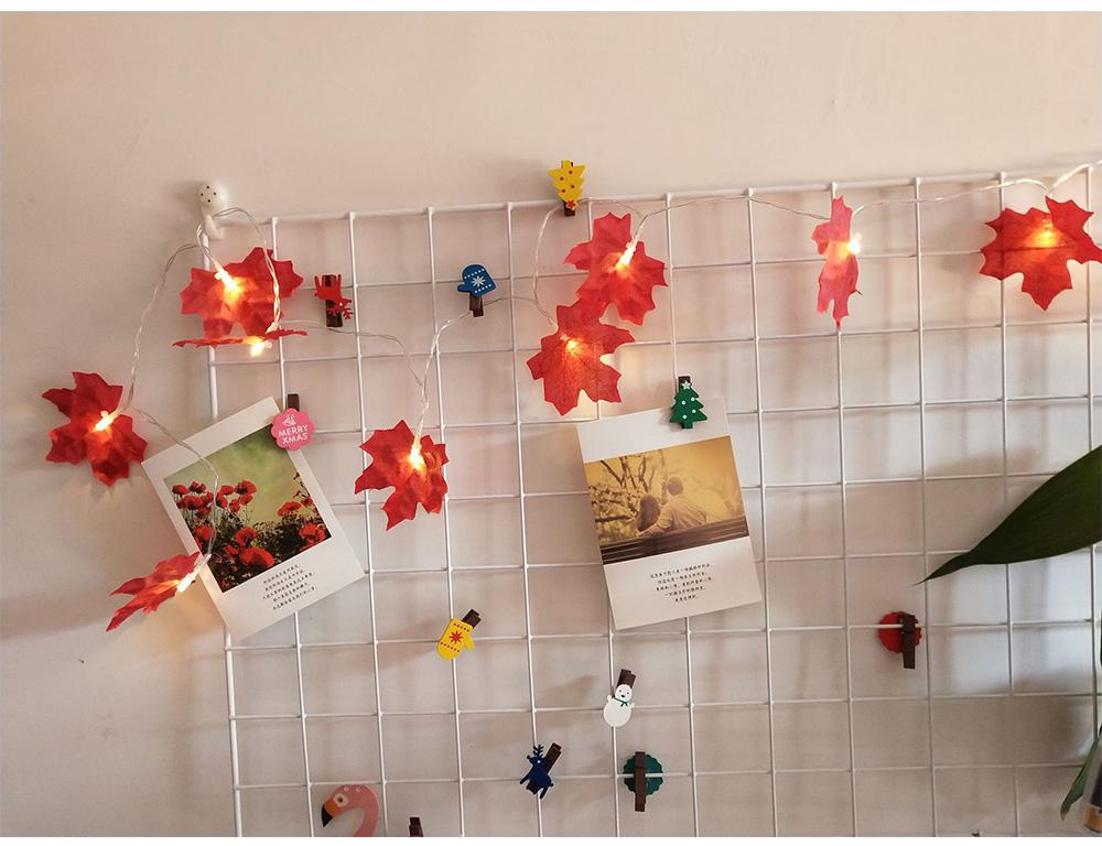10 LEDs / 20 LEDs Christmas Decoration Maple Leaf String Light