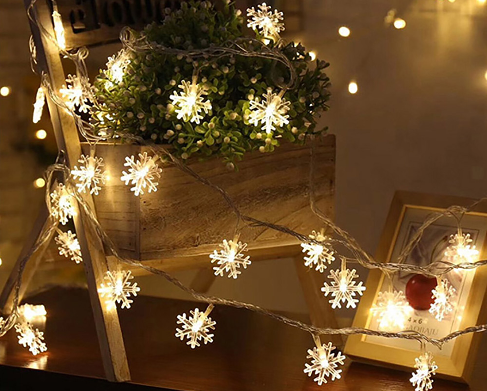 20 LEDs Christmas Snowflake String Light