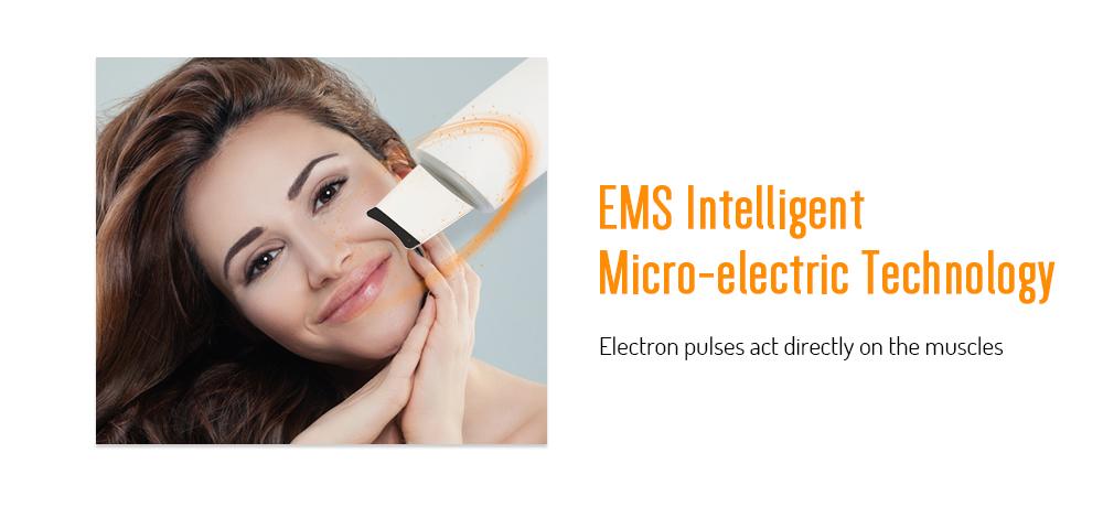 BZ - 0113 Ultrasonic Skin Scrubber Refreshing Beauty Instrument