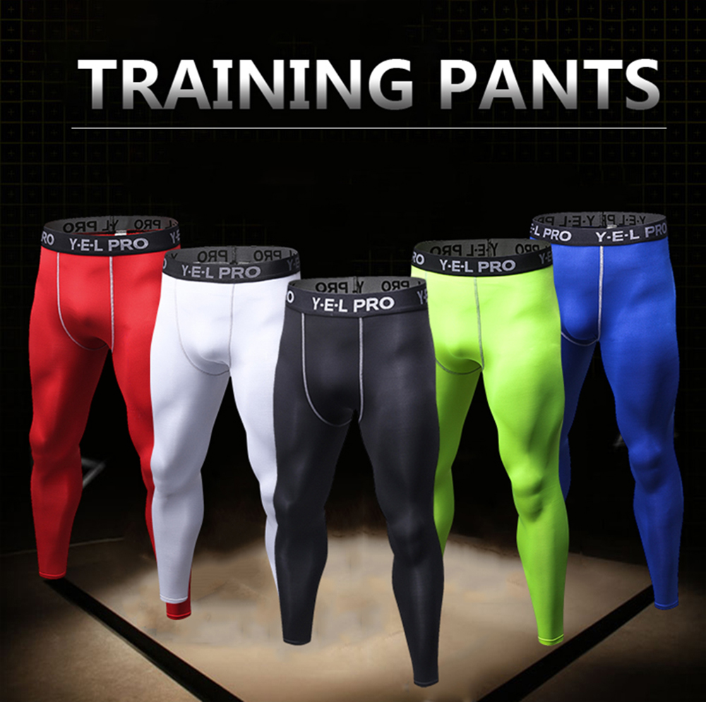 2207bc5e27a69 Men Quick Dry Tights Athletic Train Leggings Fitness Gym Sports Running  Pants
