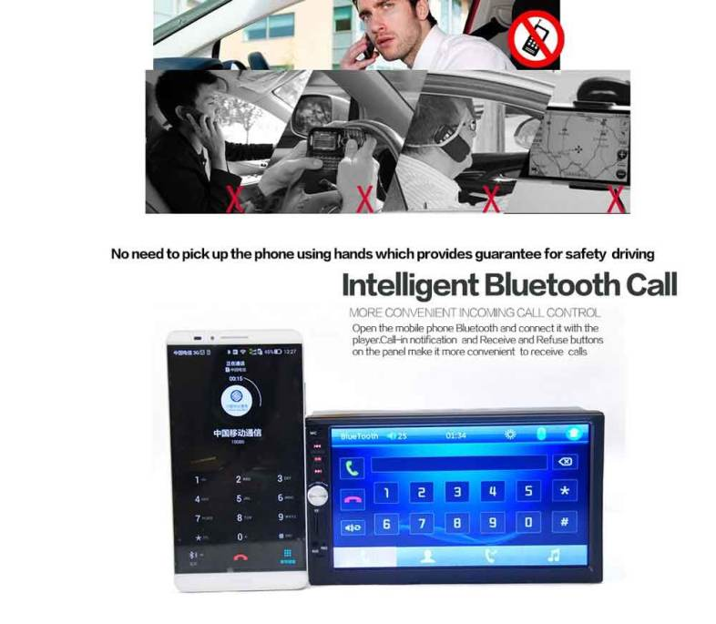 7012B 7 INCH BLUETOOTH V2 0 CAR AUDIO MP5 PLAYER SUPPORT TF MMC USB