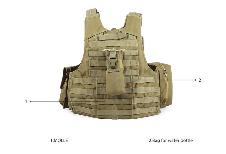 Amphibious Military Tactical Battle Combat Airsoft Molle Bullet Assault Plate Carrier Vest