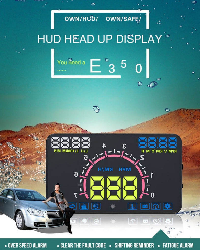 E350 AUTO CAR 5 8 INCH HUD HEAD UP DISPLAY OBDII INTERFACE