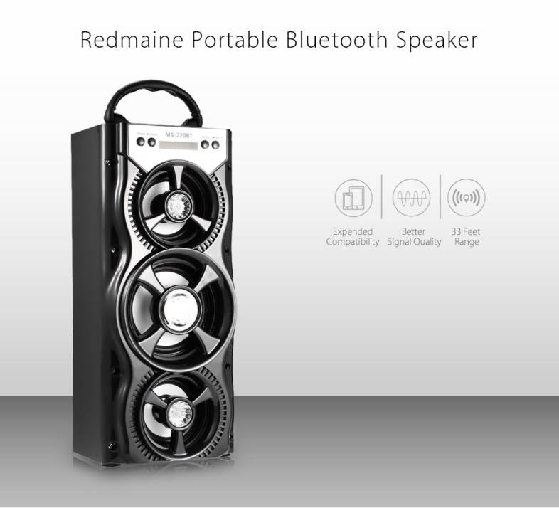 Redmaine MS - 220BT Bluetooth Speaker with AUX USB TF Card Slot
