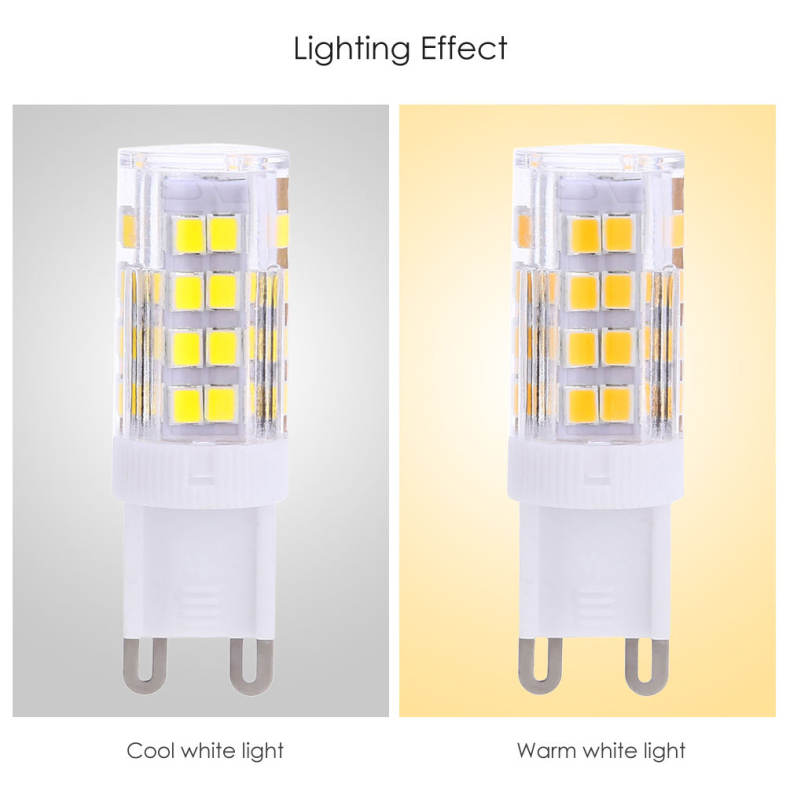 Lightme 10PCS G9 AC 110V 3W SMD 2835 LED Bulb Light Energy Saving Lamp with 51 LEDs
