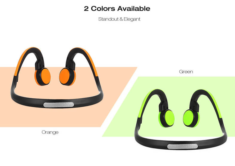 Signet BT - BK Bluetooth 4.1 Open-ear Bone Conduction Headphones Noise Canceling Headband with Microphone
